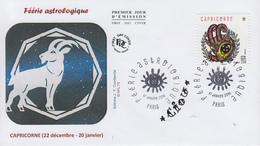 Enveloppe   FDC  1er   Jour   FERIE   ASTROLOGIQUE  :  Capricorne   2014 - 2010-....