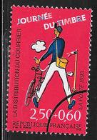 FRANCE 2792 Le Facteur Et Son Vélo Affiche Du Film Jour De Fête Avec Gomme Présentation De La Poste Oblitéré Cercle  . - Used Stamps