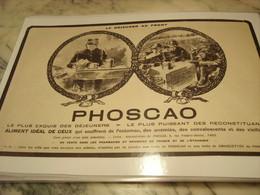 ANCIENNE PUBLICITE LE DEJEUNER AU FRONT PHOSCAO 1916 - 1914-18