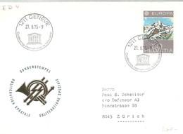 POSTMARKET  SUIZA  1975 - UNESCO