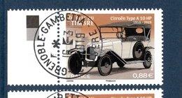 France 2019.Fête Du Timbre.Citroën Type A 10Hp.Cachet Rond.Gomme D'origine. - France