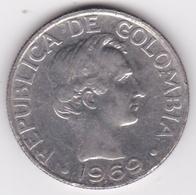 Colombie. 50 Centavos 1969. Paula Santander.  Acier Plaqué Nickel. KM# 228 - Colombie