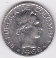 Colombie. 50 Centavos 1968. Paula Santander.  Acier Plaqué Nickel. KM# 228 - Colombia