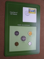YEMEN ARAB REPUBLIC ( From The Serie Coin Sets Of All Nations ) Card 20,5 X 29,5 Cm. ) + Stamp '87 ! - Yémen