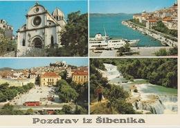 19 / 3 / 291. - POZDRAV  IZ  SIBENNIKA   -C P M  Dos  -  Divisé     Simple    Circulé   -  Oui. Non    Année  -     Edit - Yougoslavie