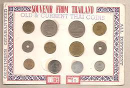 Thailandia - Souvenir Sheet - 12 Monete Differenti - Tailandia