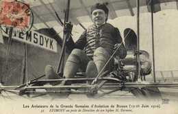 Les Aviateurs De La Grande Semaine D' Aviation De Rouen (19 26 Juin 1910) EFIMOFF Ay Posre De Direction De Son Biplan - Meetings