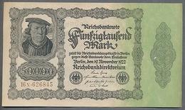 Pick79  Ro79d  DEU-90d - 50 000 Mark Impression Privée ** AUNC ** - [ 3] 1918-1933 : Repubblica  Di Weimar