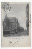 (RECTO / VERSO) SAINT AMAND LES EAUX EN 1904 - AVENUE DE LA GARE - CACHET AMBULANT FERROVIAIRE - CPA - Saint Amand Les Eaux