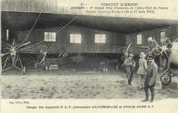 CIRCUIT D'ANJOU ANGERS 1e Grand Prix D'Aviation De L'Aéro Club De France Hangar Des Appareils R.E.P. S'alimentant D' AUT - Meetings