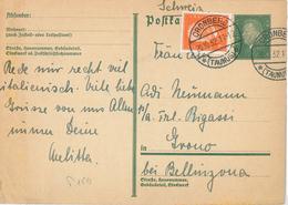 Cronberg Taunus Hindenburg Ganzsache 1932 - Germany