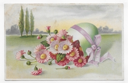 (RECTO / VERSO) PAQUES EN 1907 - CACHET AMBULANT FERROVIAIRE - CPA VOYAGEE - 75 - Pâques