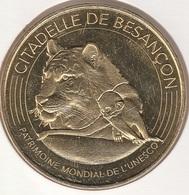 MONNAIE DE PARIS 25 BESANÇON Citadelle De Besançon - Jardin Zoologique Tigre Et Le Singe 2018 - 2018