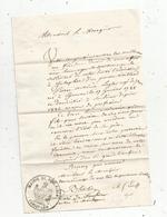 Lettre Du Curé De SOULAIRES , Eure Et Loir , Cachet : Mairie De Soulaires , Au Marquis D'Aligre , 1857 , 2 Scans, - Non Classés