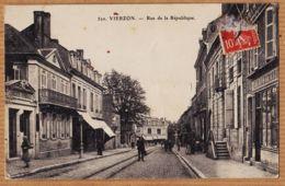 X18133 VIERZON 18-Cher Charcuterie Banque SOCIETE GENERALE Rue De La REPUBLIQUE 1910s Th.G 520 - Vierzon