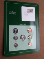 ISLE OF MAN ( From The Serie Coin Sets Of All Nations ) Card 20,5 X 29,5 Cm. ) + Stamp '88 ! - Isle Of Man
