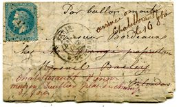 BALLON MONTE LE WASHINGTON Ou LE LOUIS BLANC Pour LE MESNIL BACLEY CALVADOS ( Lire Descriptif) - Marcophilie (Lettres)