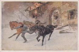 AK - Karte Rotes Kreuz - Nr. 431 - Korporal Rettet Die Pferde Seiner Einheit Aus Brennendem Haus - Rotes Kreuz