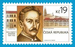 CZ 2019-1021  Rudolf Tomáš Jedlička, Czech Doctor, CZECH, 1 X 1v, MNH - Tchéquie