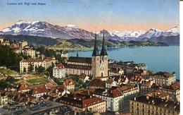 007235  Luzern Mit Rigi Und Alpen  1930 - LU Luzern