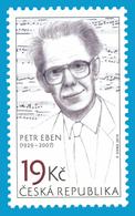CZ 2019-1017  PETER EBEN, CZECH, 1 X 1v, MNH - Tchéquie