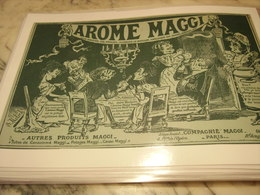 ANCIENNE PUBLICITE AROME MAGGI 1905 - Affiches