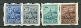 POLAND MNH ** 823-826 En 2 Paires (= Rare) Fête Nationale, Palais De La Culture Et Des Sciences à Varsovie - 1944-.... République
