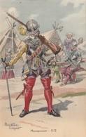 MILITARIA  ILLUSTRATEUR PIERRE ALBERT LEROUX MOUSQUETAIRE 1572 - Uniformes