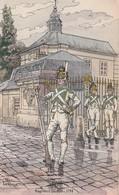 MILITARIA  ILLUSTRATEUR PIERRE ALBERT LEROUX REGIMENT DU ROI 1788 - Uniformes