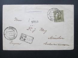 Jugoslawien 1922 Nr. 155 Randstück! Einschreiben  Ljubljana 1 Nach München.An Dr. J. Klug Im Maximilianeum - 1919-1929 Königreich Der Serben, Kroaten & Slowenen