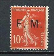 "FR Franchise YT 5 "" Semeuse Camée 10c. Rouge "" 1906-07 Neuf** - Franchise Stamps"