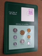 REPUBLIC OF AUSTRIA ( From The Serie Coin Sets Of All Nations ) Card 20,5 X 29,5 Cm. ) + Stamp '82 ! - Autriche