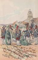 MILITARIA  ILLUSTRATEUR PIERRE ALBERT LEROUX ARTILLERIE 1796 - Uniformes