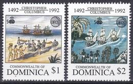 Dominica 1992 Organisationen OECS Geschichte History Entdeckung Discovery Kolumbus Columbus Schiffe Ships, Mi. 1594-5 ** - Dominica (1978-...)
