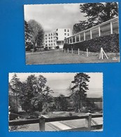 53 - CLAVIÈRES -   LE SANATORIUM - LOT DE 2 CARTES - CPSM DENTELÉES  1969 - VERSO - France