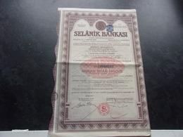 SELANIK BANKASI   Banque De Salonique - Actions & Titres