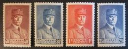 France YT 470 à 473 ** Luxe - 1941-42 Pétain