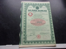 SELANIK BANKASI   Banque De Salonique - Non Classés