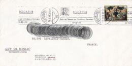 L4U288 Espagne L BARCELONA Pour Levallois Perret  France 1983/ Env. Entiere - 1931-Aujourd'hui: II. République - ....Juan Carlos I