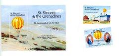 St Vincent Grenadines 1993-Blanchard,ballon-YT 1770/1+B218***MNH-Emission Commune - Mongolfiere