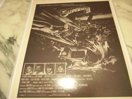 ANCIENNE PUBLICITE L AVENRURE CONTINUE SUPERMAN II 1980 - Photographie