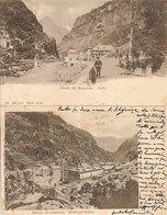 (C).Iselle(VB).Lotto 2 Cartoline.Strada Del Sempione.F.to Piccolo.Viaggiate (c18) - Verbania