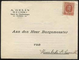 "1925 ""Enveloppe-lettre""  Ets A. Gelin à Saint-Trond/St Truiden , Timbre PO 3633 B - Postwaardestukken"