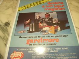 ANCIENNE PUBLICITE DEVIENS A TON TOUR MAGICIEN AVEC GARCIMORE 1980 - Publicité