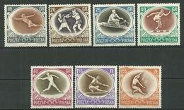 POLAND MNH ** 871-77 JEUX OLYMPIQUES DE MELBOURNE. BOXE. ESCRIME. AVIRON. JAVELOT - 1944-.... Republik