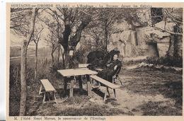 Mortagne Sur Gironde. L' Ermitage, La Terrasse Devant Les Cellules Et M L'Abbé Henri Moreau , Le Conservateur. - France