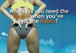 24G : Sports Beach Volleyball 1 Advertisement Card - Volleyball