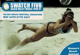 24G : Sports Beach Volleyball 2 Advertisement Card - Volleyball