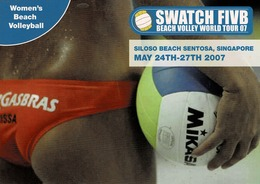 24G : Sports Beach Volleyball 4 Advertisement Card - Volleyball
