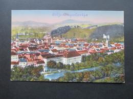 Jugoslawien / Slowenien 1919 AK überdruckt! Cilli / Celje - Jugoslavija Kunstverlag Albin Sussitz, Graz - Slowenien